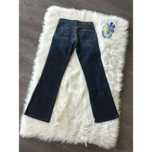 7 For All Mankind Boot Cut Denim Jean Pants Blue